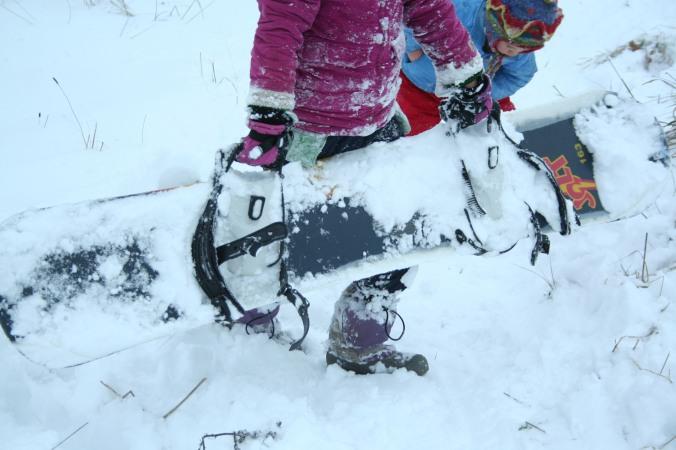 snow play, learnig to play, snow fun